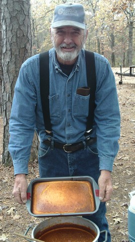 Larry Ford makes some awesome chili and cornbread.